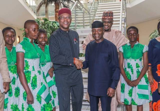 1 After winning the world's largest technology competition in California, the United States, Nigeria's Vice-president Yemi Osinbajo on Thursday received the team in Abuja on Thursday.