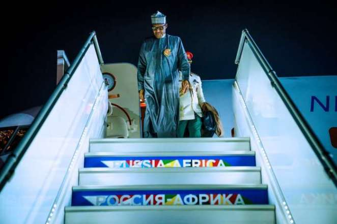 President Muhammadu Buhari on Monday evening arrived Sochi, Russia, ahead of Russia – Africa Economic Forum fixed for between Oct. 23 and Oct. 25 4