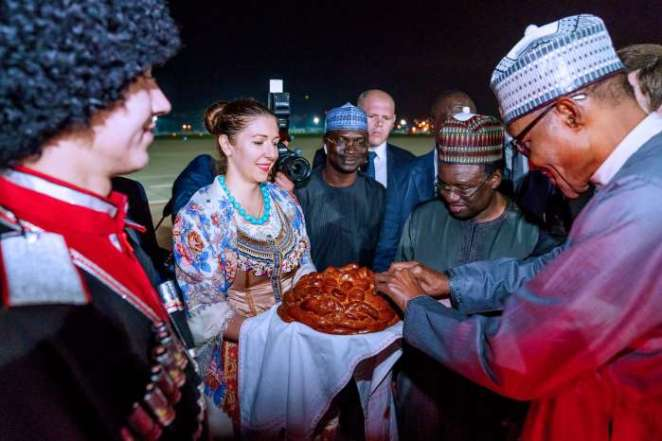 President Muhammadu Buhari on Monday evening arrived Sochi, Russia, ahead of Russia – Africa Economic Forum fixed for between Oct. 23 and Oct. 25 3