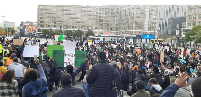 11. Hundreds of Nigerians in Berlin, Germany, and London, the United Kingdom protested against police brutality, extrajudicial killing, and bad governance in their home country.