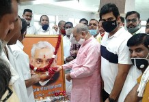 Minister Moolchand Sharma paid floral tribute to Atal Bihari Bajpai ji on his death anniversary