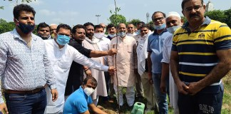 Rotary club Aastha to plant 2 thousand saplings to make sector 11E block park a faith forest