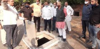 Cabinet Minister Moolchand Sharma inspects water booster located at Ballabhgarh Sector 2