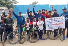 Cycle rally organized to encourage cycling