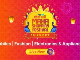 Get the best deals on electronics and fashion at this Navratri Paytm Mall Maha Shopping Festival