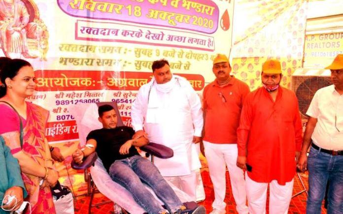 Organizing blood donation camp on Maharaja Agrasen Jayanti is a virtuous work Lakhan Singla