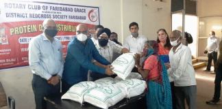 Protein diet provided to TB patients by Rotary Club of Grace and District Red Cross Society