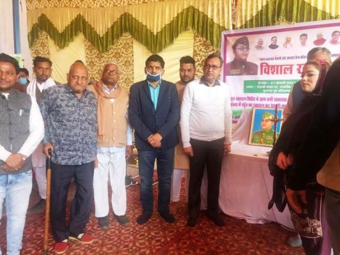 Blood donation camp organized by District Redcross Society at Punjabi Barat Ghar Punhana - SDM