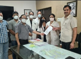 The doctors of IMA Faridabad, on the call of National and State IMA, kept the OPD closed throughout Faridabad.