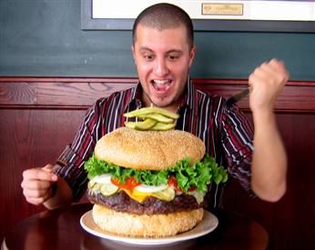 Impossible Hamburger to eat