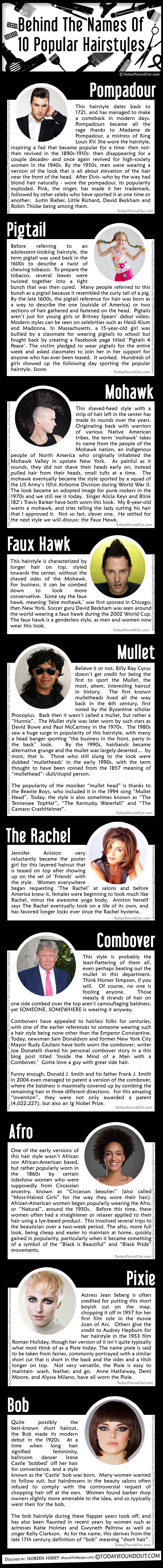 Behind The Names Of 10 Popular Hairstyles