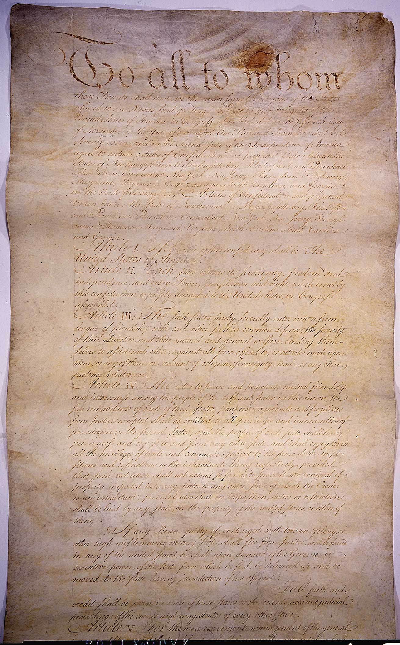 The Articles Of Confederation The Constitution Before The