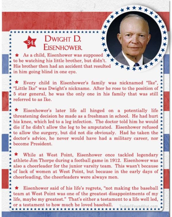 100 Facts About US Presidents 34 Dwight D Eisenhower