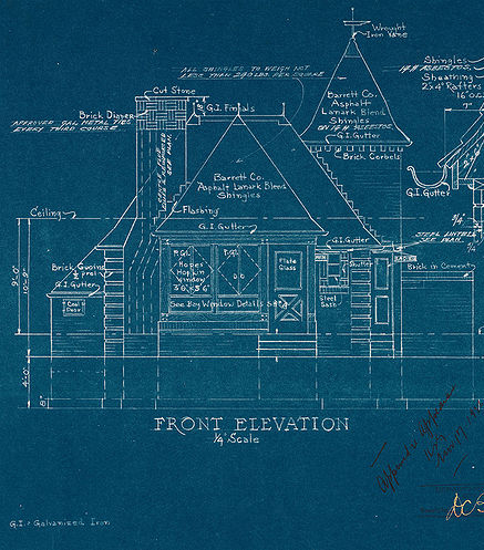 why blueprints are blue