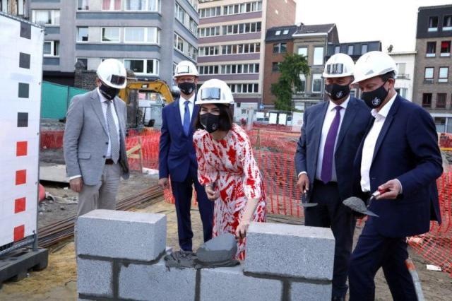 La pose de la première pierre @HEC-Liège