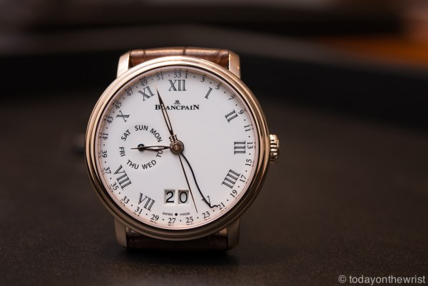 Blancpain 8 Day Large Date Week Indication
