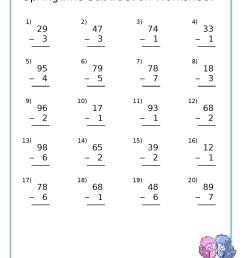 Free Spring Subtraction Worksheet – Today's Catholic Homeschooling [ 1667 x 1278 Pixel ]