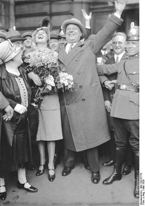 Berlin, Rückkehr Emil Jannings aus Amerika