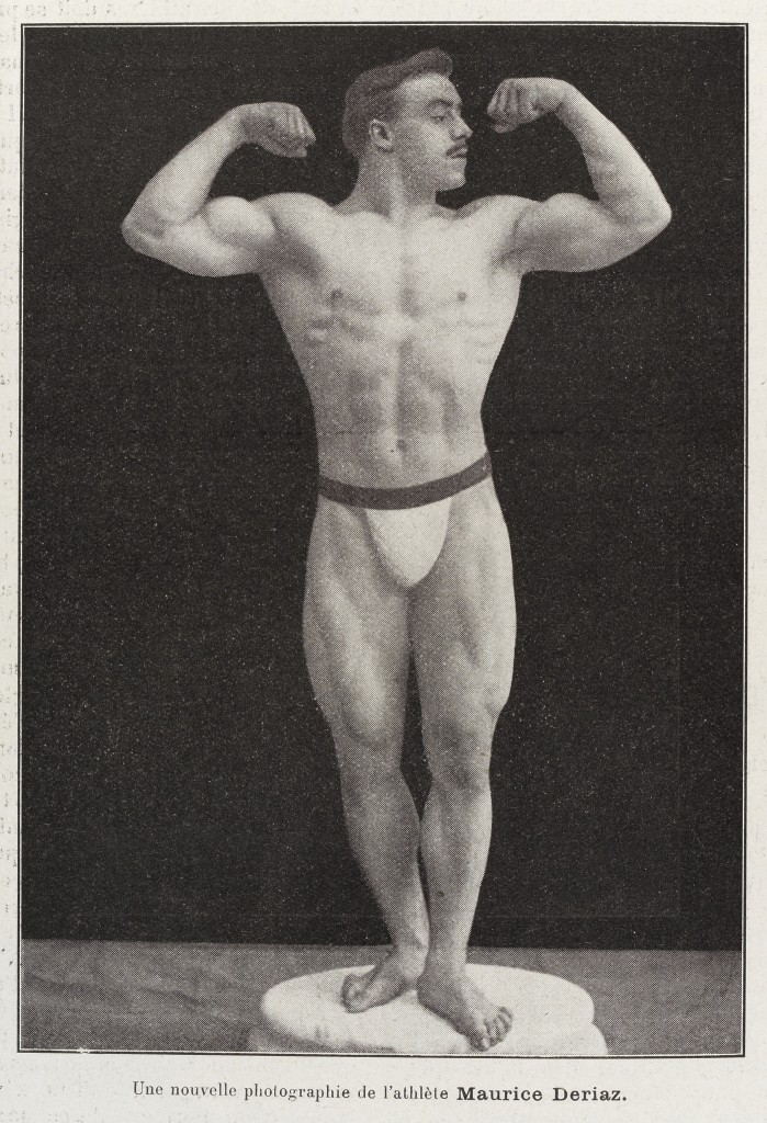 Photograph of a male body builder