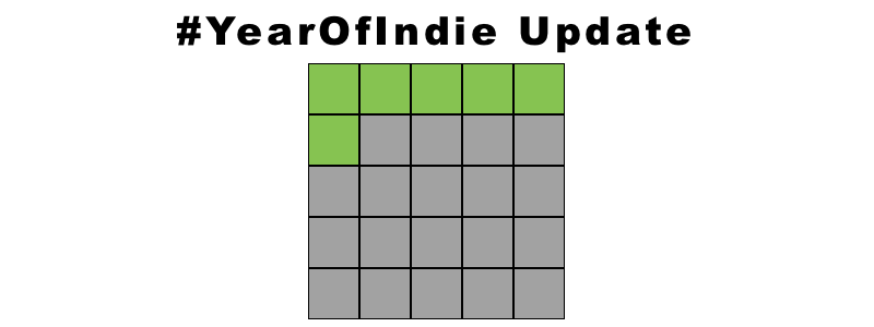 YEAR OF INDIE UPDATE (6 READ, 19 TO GO)