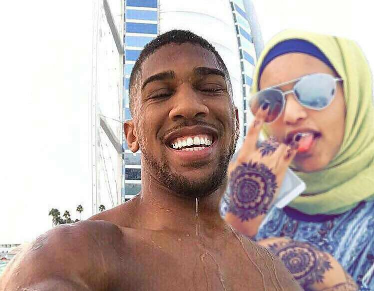 Hilarious! Muslim girl falls in love with Anthony Joshua, stalks him