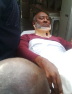Metuh begs to be allowed to travel for treatment as he arrives court on a wheel chair