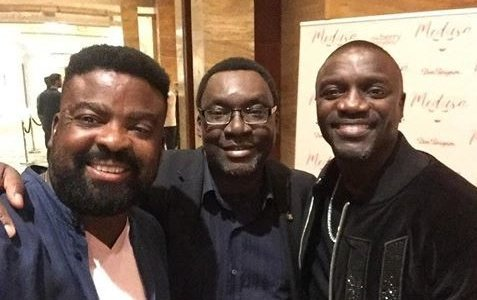 Film producer, Kunle Afolayan hangs out with Akon at Cannes film festival