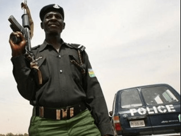 Policeman Beats A Lady For Refusing To Allow Him Check Her Pants