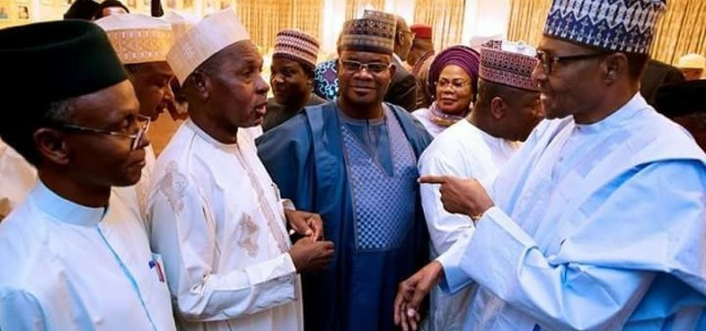Buhari meets APC governors behind closed doors in Aso Rock(photos)