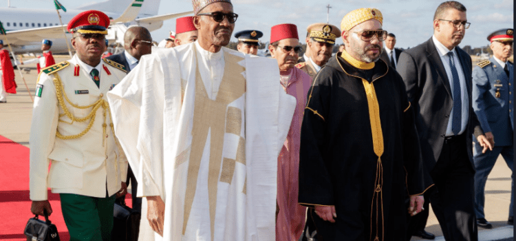 Buhari meets with the king of Morocco(photos)
