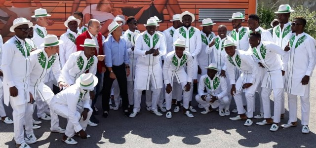 Super Eagles rock adorable attires as they depart for World Cup in Russia