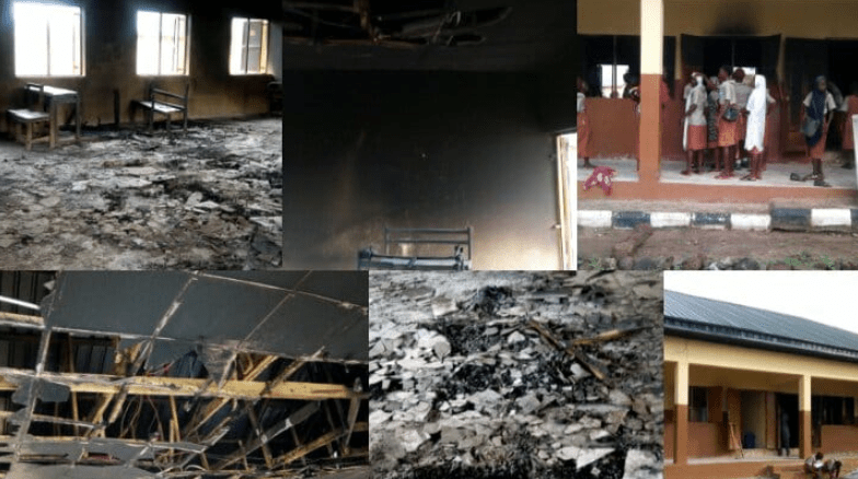 Secondary schools scheduled for commissioning burnt by thugs in Kogi