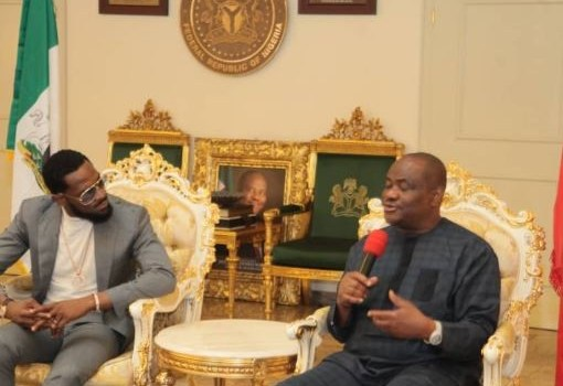 Governor Nyesom Nwike host Dbanj in Rivers state house (photos)
