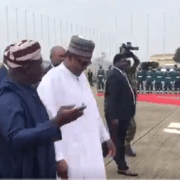 Buhari arrives Lagos, set to commision ECOWAS post at Seme border(photos)