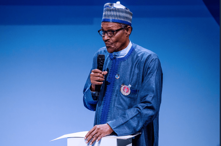 Buhari speaks on corruption at the Paris Peace Forum(photos)