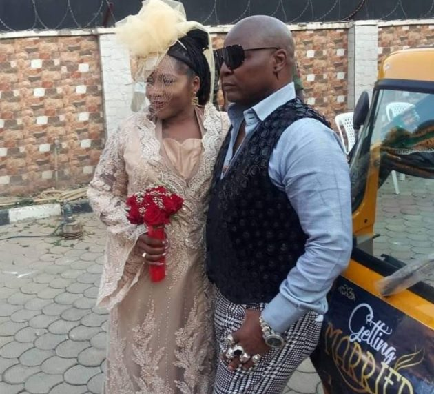 Charly Boy weds wife, Lady D in catholic church