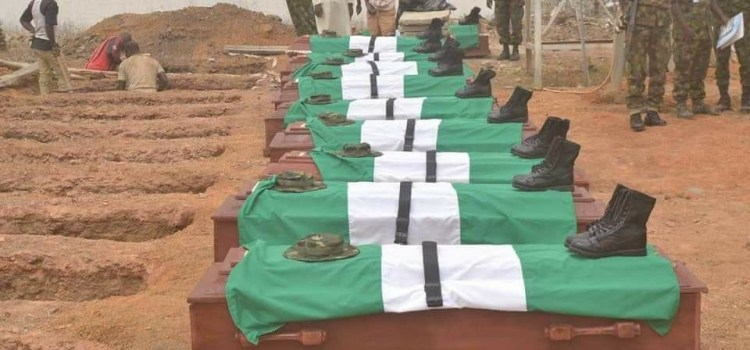 Nigerian Army buries 14 soldiers killed by Boko Haram
