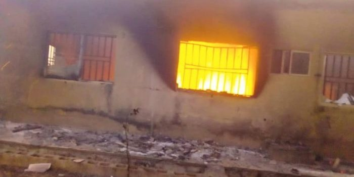 PDP campaign office in Kano burnt down (Photo)