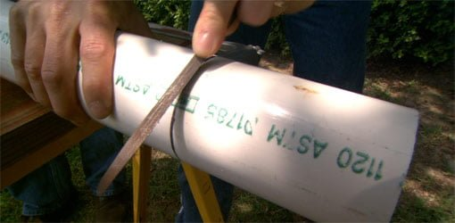 How to Cut PVC Pipe Square  Todays Homeowner