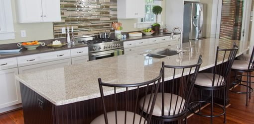 kitchen upgrades remodeled kitchens images inexpensive today s homeowner page 2 granite island countertop enhances the beauty of this
