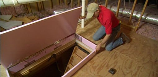 How to Insulate Attic Drop Down Access Stairs  Todays