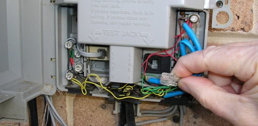 how to fix a hum in a phone line today\u0027s homeowner Phone Wiring Outside Telephone disconnecting test jack inside phone interface box