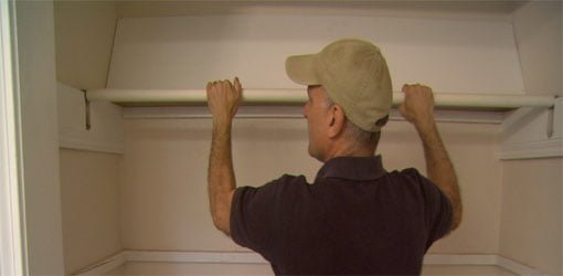 How to Cover Closet Rods with Plastic Pipe  Todays Homeowner
