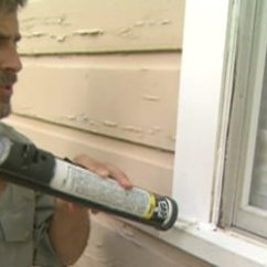 Kitchen Sink Faucet Cushioned Mat How To Caulk And Seal Around Windows Doors | Today's ...
