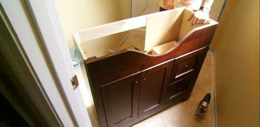 How to Install a Bathroom Vanity  Todays Homeowner