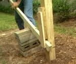 removing fence post