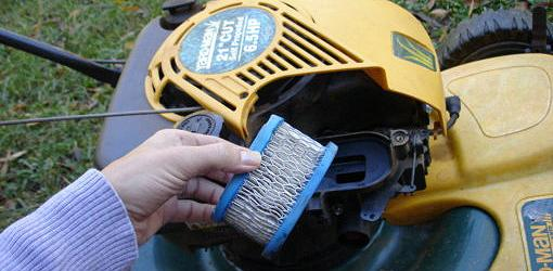Change lawn mower air filter