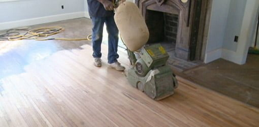 Sanding Heart Pine Floors at the Kuppersmith Project House  Todays Homeowner