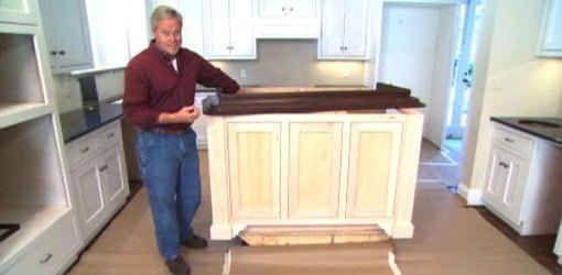 kitchen island cabinet the orleans tip for finishing an in your today s homeowner