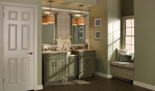 merillat kitchen cabinets types of countertops design tips for your personal bath oasis | today's homeowner